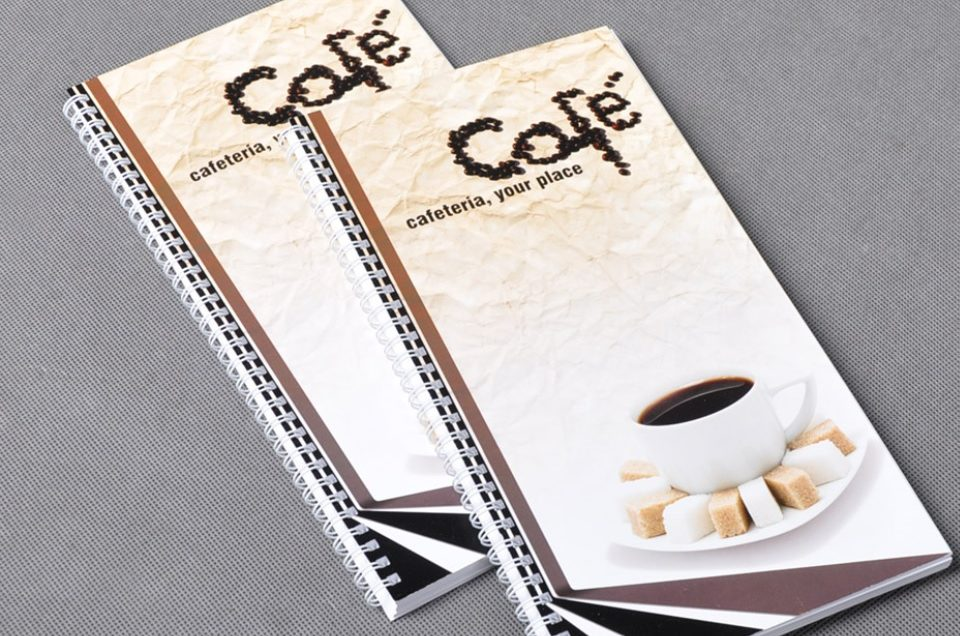 Projekt i druk profesjonalnego menu restauracyjnego