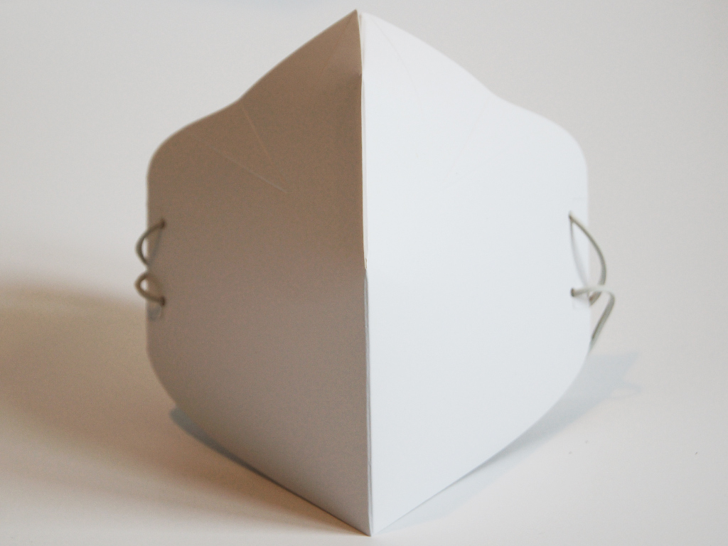 Maseczka kartonowa bez filtra
